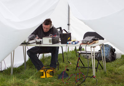 John, M0HFH working Morse code on 14MHz