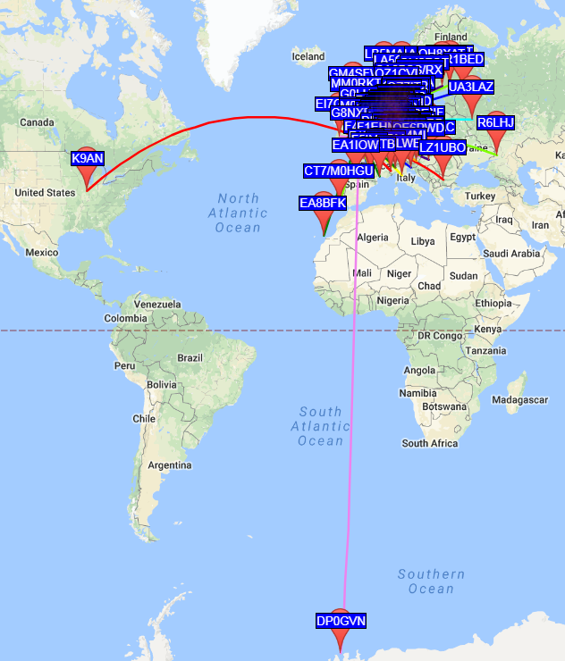Club Dipole – WSPR To the Antarctic 13597 km | Thornbury & South